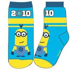 Eplusm Chlapčenské vysoké ponožky Mimoni - modrá