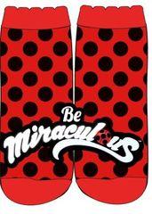 Eplusm Dievčenské vysoké ponožky Miraculous - červená