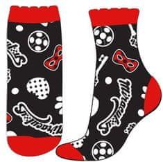 Eplusm Dievčenské vysoké ponožky Miraculous - čierna