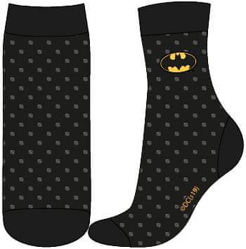 Eplusm Chlapčenské vysoké ponožky Batman - čierna - 23–26