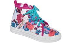 Zetpol Lányos cipők, virágokkal - fehér