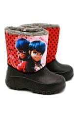 """SETINO Dievčenské zimušné topánky - snehule - """"Miraculous"""" - červená"""