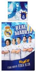 SETINO Chlapčenské bavlnené obliečky FC Real Madrid - modrá 140x200, 70x90