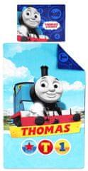 """SETINO Fiúk pamutlemezei Thomas és barátai """"1"""" - 90x140, 40x55 kék"""