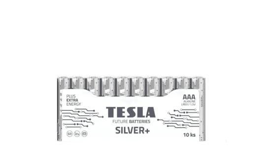 TESLA 1099137100 AAA SILVER+ Alkaline, LR03, FOIL/10ks