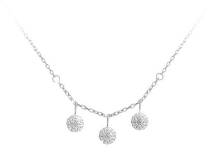 JVD Ezüst nyaklánc csillogó medálokkal SVLN0122X0045 ezüst 925/1000