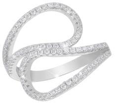 JVD Strieborný prsteň s kryštálmi SVLML11510F7 striebro 925/1000