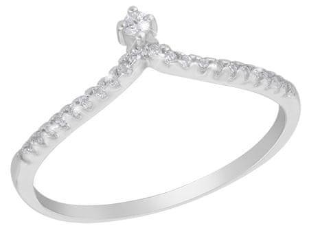 JVD Srebrni prstan s kristali SVLR0098XG4BI (Obseg 55 mm) srebro 925/1000