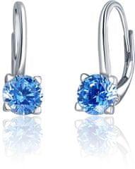 JVD Stříbrné náušnice s modrými krystaly SVLE0503XF3M206 stříbro 925/1000
