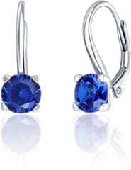 JVD Stříbrné náušnice s modrými krystaly SVLE0503XF3M106 stříbro 925/1000