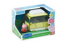 TM Toys Prasiatko Peppa karavan kempingový automobil v krabici 20x14x13cm
