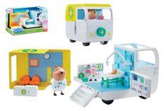 TM Toys Lekárska pojazdná ordinácia plast Prasiatko Peppa / modré plavky s doplnkami v krabici 38x23x21cm