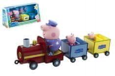 TM Toys Prasiatko Peppa vláčik + 3 figúrky plast v krabici 35x17x10cm