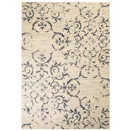 shumee bézs/kék modern szőnyeg virágmintával 160 x 230 cm