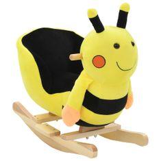shumee Houpací zvířátko čmelák s opěradlem plyš 60 x 32 x 57 cm žluté