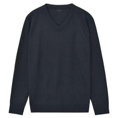 Sweter Męski w Serek, Granat, Rozmiar M