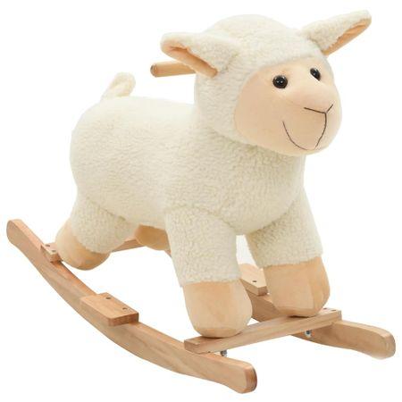 slomart Gugalna žival ovčka iz pliša 78x34x58 cm bela