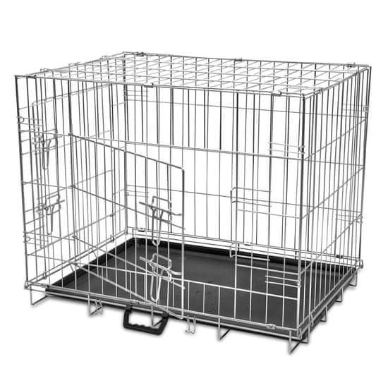 Vidaxl Skládací kovová klec pro psa velikost M