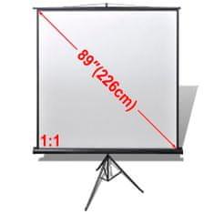 Manuálne premietacie plátno 160x160cm, 1:1 výškovo nastaviteľný stojan