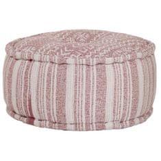 Okrągły puf bawełniany ze wzorem, 50 x 25 cm, kolor terakota