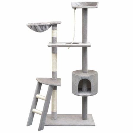 shumee Drapak dla kota z słupkami do drapania, 150 cm, kolor szary