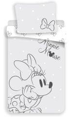 Jerry Fabrics dječja posteljina Minnie s mašnom, siva