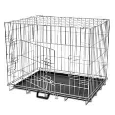 Składana, metalowa klatka dla psa, rozmiar L