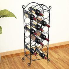 Vidaxl Stojan na víno na 21 lahví, kovový