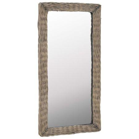 shumee Lustro w wiklinowej ramie, brązowe, 50 x 100 cm