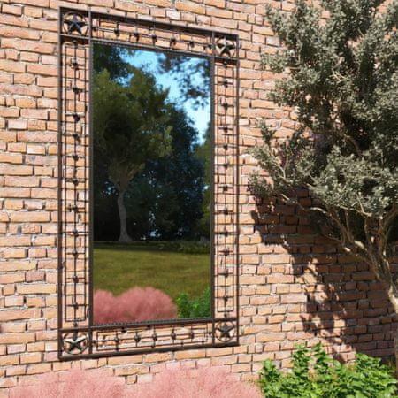 shumee fekete téglalap alakú kerti falitükör 60 x 110 cm