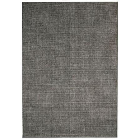 slomart Preproga videz sisala notranja/zunanja 120x170 cm temno siva