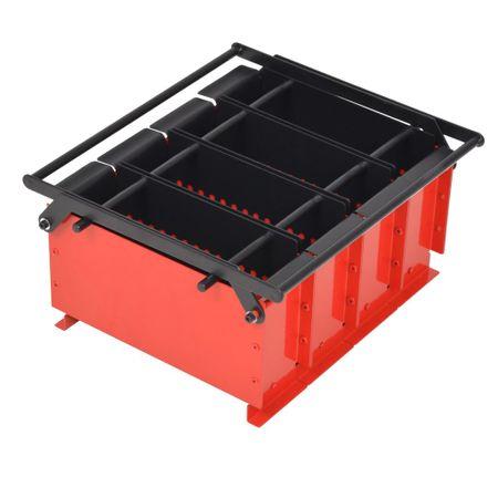 shumee Preša za papirnate brikete jeklo 38x31x18 cm črna in rdeča