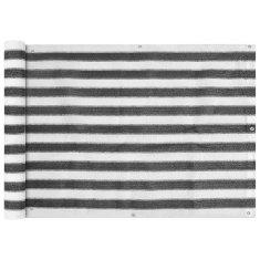 shumee balkon napellenző HDPE 75x400 cm Antracit és fehér