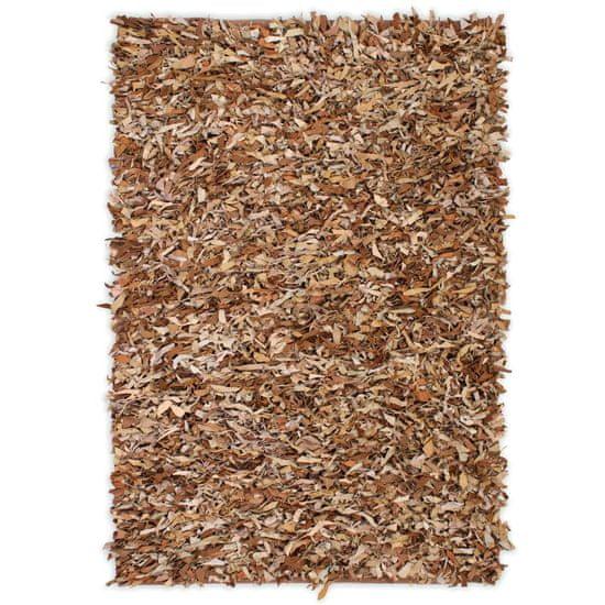 Koberec Shaggy pravá koža 120x170 cm svetlohnedý
