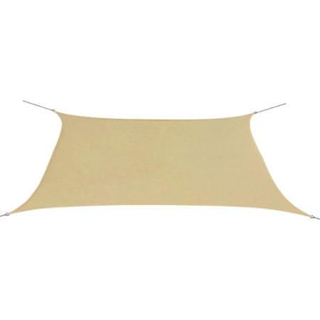 shumee Prostokątny żagiel ogrodowy z tkaniny oxford, 2x4 m, beżowy
