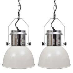 Nowoczesne lampy sufitowe, 2 szt., regulowana długość, białe