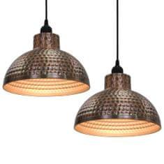 Lampy sufitowe, 2 szt., półkuliste, kolor miedzi