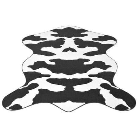Dywanik 150x220 cm bydlęca skórka w czarne łatki