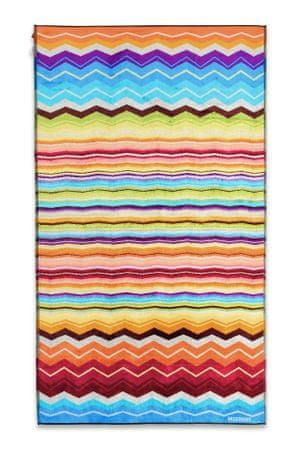 Missoni Home HUGO brisača za plažo 100 x 180 cm oranžna večbarvna