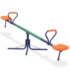 Vidaxl Převažovací houpačka s rotací 360 stupňů oranžová