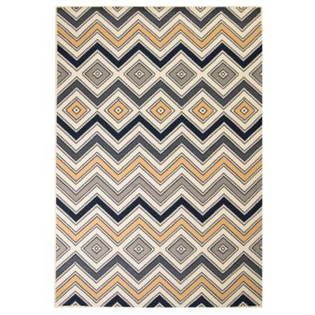 slomart Moderna preproga cikcak vzorec 140x200 cm rjava/črna/modra