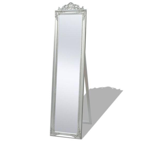 Samostatne stojace zrkadlo, barokový štýl, 160x40cm, strieborné