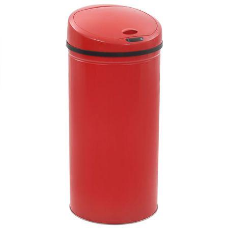 Kosz na śmieci z czujnikiem, 52 L, czerwony