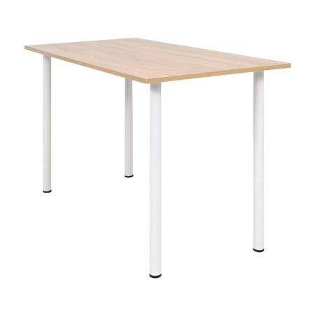 shumee tölgyfa/fehér színű étkezőasztal 120 x 60 x 73 cm