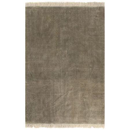 Dywan typu kilim, bawełna, 160 x 230 cm, taupe