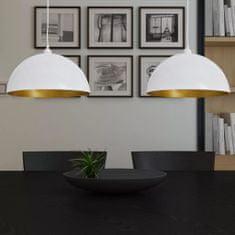 Lampy sufitowe, 2 szt., regulowana długość, półokrągłe, białe