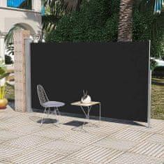 shumee Boční markýza na terasu / balkonová zástěna 160 x 300 cm černá