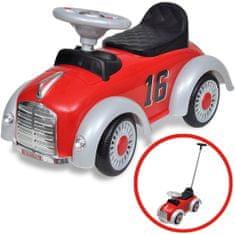 shumee Czerwony samochód-jeździk retro z drążkiem do pchania