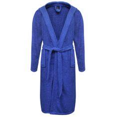 500 g/m² Szlafrok unisex bawełna 100% kolor Niebieski rozmiar M