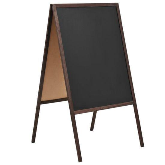 shumee Oboustranná tabule z cedrového dřeva volně stojící 60 x 80 cm